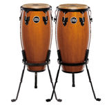 "meinl headliner series wood conga sets with stands  - 11"" and 12"""