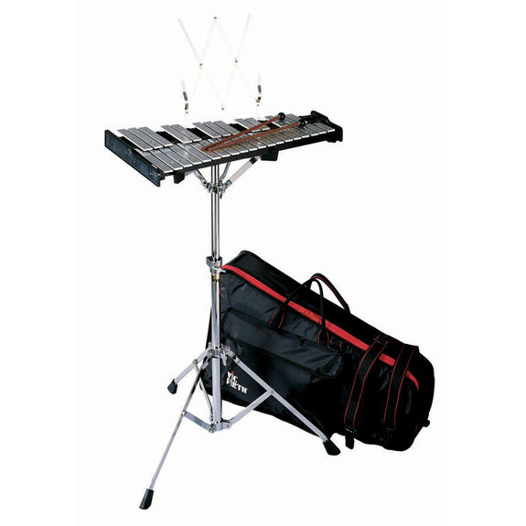 Vic firth 32 note percussion kit with backpack bag for Yamaha student bell kit with backpack and rolling cart