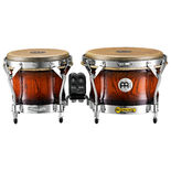 meinl woodcraft series bongos - antique mahogany burst