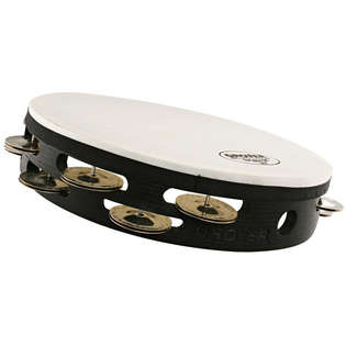 "grover 10"" tunable german silver double row tunable tambourine - german silver"