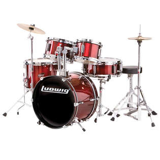 "ludwig junior 5 piece drum set - 16"" bass drum"