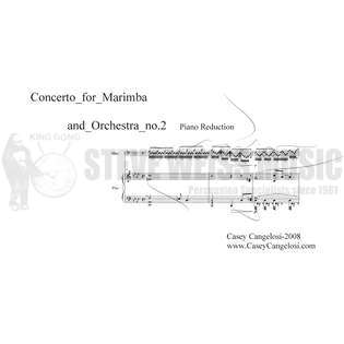 cangelosi-concerto for marimba and orchestra no. 2 (sp)- m/pn red.
