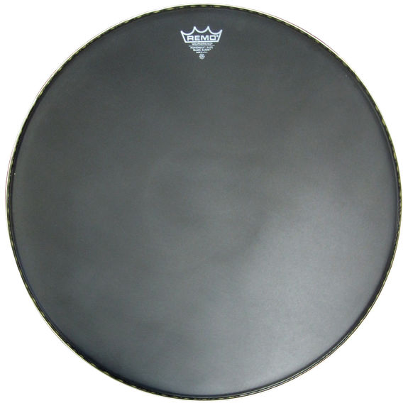remo powermax marching bass drum head black suede discontinued drum heads bargain basement. Black Bedroom Furniture Sets. Home Design Ideas