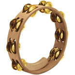 "meinl 10"" artisan edition double row tambourine - brass jingles"