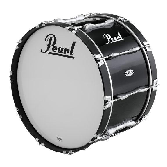 pearl championship series marching bass drum - piano black lacquer · Zoom b6e99fda17f5