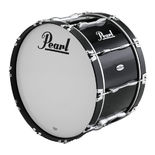 pearl championship series marching bass drum - piano black lacquer