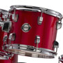 ludwig accent cs combo driver drum set with 22′ bass - red foil