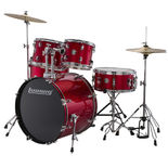 "ludwig accent 5 piece drum set - 22"" bass"