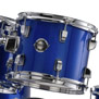 ludwig accent cs combo fusion drum set with 20′ bass - blue foil