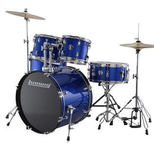 "ludwig accent 5 piece drum set - 20"" bass drum"