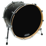 evans eq3 resonant black bass drum head