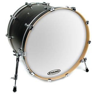 evans eq3 resonant smooth white bass drum head bass drum heads steve weiss music. Black Bedroom Furniture Sets. Home Design Ideas