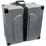 humes & berg enduro square snare drum case - 14x6.5 granite
