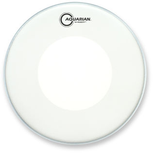 "aquarian 14"" high velocity drum head - white"