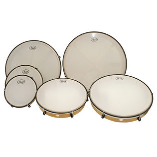 pearl frame drum complete set (set of 6)