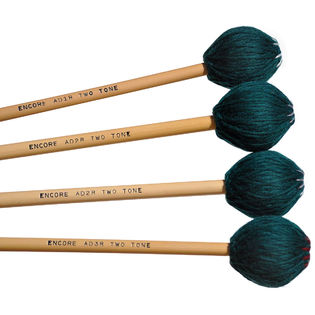 encore anthony disanza two-tone series graduated rattan marimba mallet set