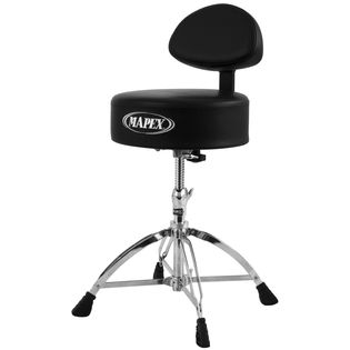 mapex round top throne with back rest