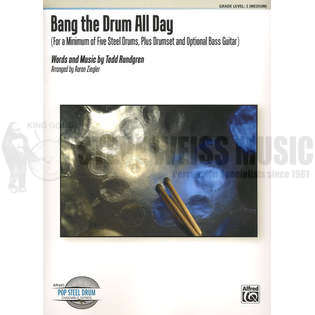 rundgren-bang the drum all day arr. ziegler (sp)-steel drs./ds/bg