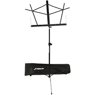 stageline folding music stand with bag - black