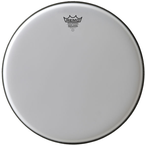 remo white suede ambassador drum head snare drum heads tom heads drum set drum heads. Black Bedroom Furniture Sets. Home Design Ideas