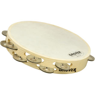 "grover 10"" bantamweight double row tambourine - german silver"