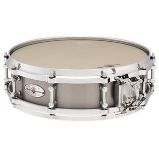 black swamp mercury series snare drum - titanium multisonic  14x4