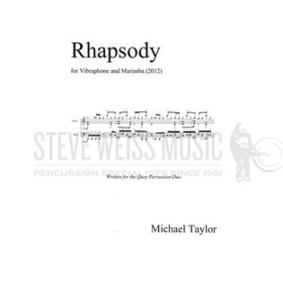 taylor, m.-rhapsody for vibraphone and marimba (sp)-v/m