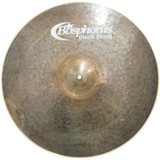 "bosphorus 20"" black pearl light crash ride cymbal"