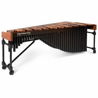 marimba one 5.0 octave izzy series marimba with traditional keyboard and basso bravo resonators