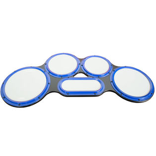 ahead s hoop tenor practice pad gray surface blue drum practice pads drum pads drum. Black Bedroom Furniture Sets. Home Design Ideas