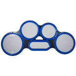 ahead s-hoop chavez tenor practice pad (gray surface / blue)