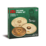 "meinl sand cymbal set -14 sand hat,  18"" sand thin crash, 20"" sand ride"