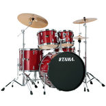 "Tama Imperialstar 5 Piece Drum Set with Hardware and Meinl HCS Cymbals - 22"" Bass Drum Alternate Picture"