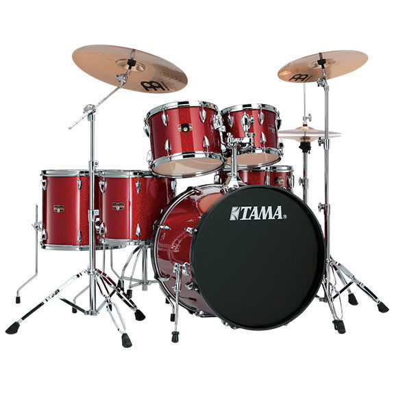 Tama Imperialstar 6pc Complete Kit W Meinl Hcs Cymbals Drum Sets