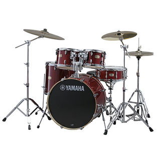 "yamaha stage custom birch 5 piece drum set with hardware - 20"" bass drum"