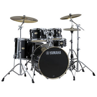 "yamaha stage custom birch 5 piece drum set with hardware - 22"" bass drum"