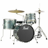 "Pearl Roadshow 4-Piece Drum Set with Hardware and Liberty One Cymbals - 18"" Bass Drum Alternate Picture"