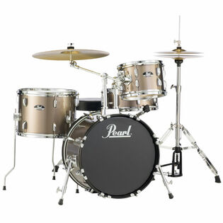 "pearl roadshow 4-piece drum set with hardware and liberty one cymbals - 18"" bass drum"
