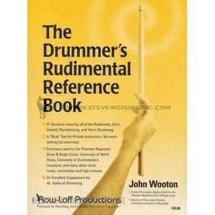 wooton-drummer's rudimental reference book, the
