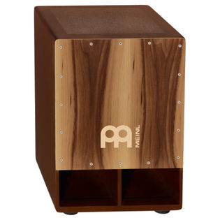 meinl jumbo bass cajon walnut frontplate with sub woofer