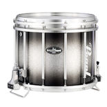 pearl ffx championship maple carboncore marching snare drum black silver burst - 14x12