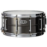 pearl sensitone beaded brass snare drum - 14x6.5