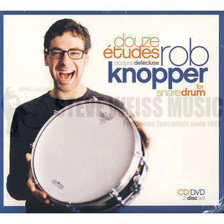 knopper-delecluse: 12 etudes for snare drum (cd/dvd)