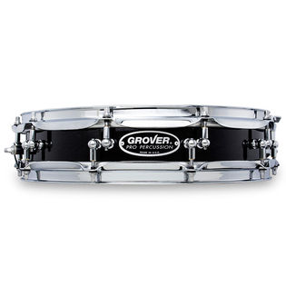 grover pro keegee piccolo snare drum charcoal ebony - 14x3