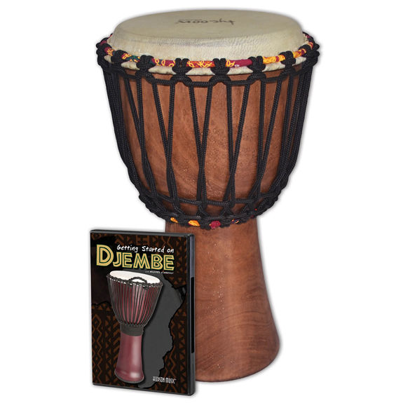 tycoon 8 traditional rope tuned djembe with dvd djembes. Black Bedroom Furniture Sets. Home Design Ideas