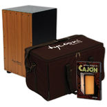 "tycoon supremo 29"" series cajon with bag and dvd"