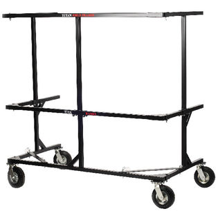 titan 8' two tier percussion rack field frame