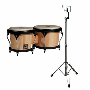 lp aspire wood bongos with free stand