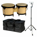 liberty one bongo package - includes bongos, stand, and bag