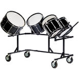 titan bass drum rack field frame - holds 5 bass drums